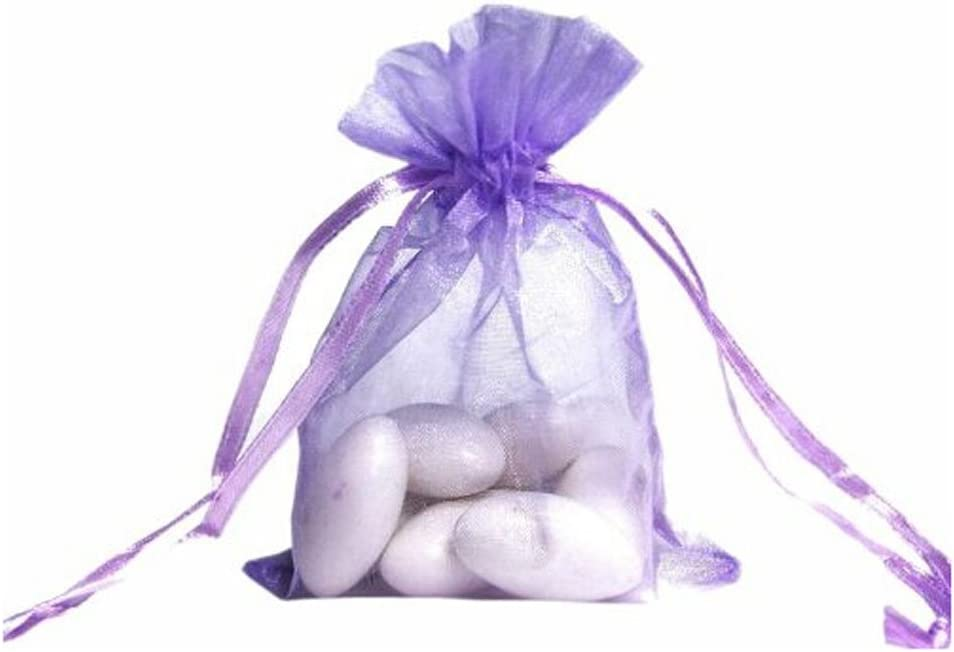 """100 pieces 2/"""" x 3/"""" MINI Organza Bags Wedding Party Favor Gifts eggplant purple"""