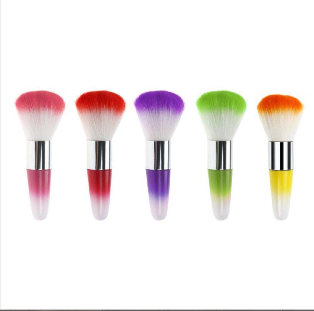 2 cepillos limpiadores de polvo para uñas de acrílico y maquillaje, color al azar, color al azar YJZ