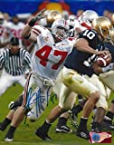 A.J. Hawk Autographed Ohio State Buckeyes 8x10 Photograph - Certified Authentic - Autographed Photos