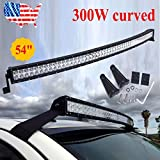 52inch 300w Led Curved Work Light Bar Flood Spot Combo Driving Offroad 4wd 312w