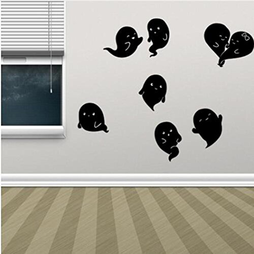 Clearance Halloween Sticker,Han Shi Happy Household Room Removable Wall Paper Mural Decor (M, C)