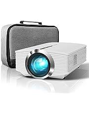 Vidéoprojecteur, ELEPHAS 2600 Lumens LCD Mini Projecteur Portable, Supporte 1080P Rétroprojecteur avec Fire TV/HDMI/VGA/USB Ports, Compatible iPhone/Smartphone/PC/PS4/Xbox (Blanc)