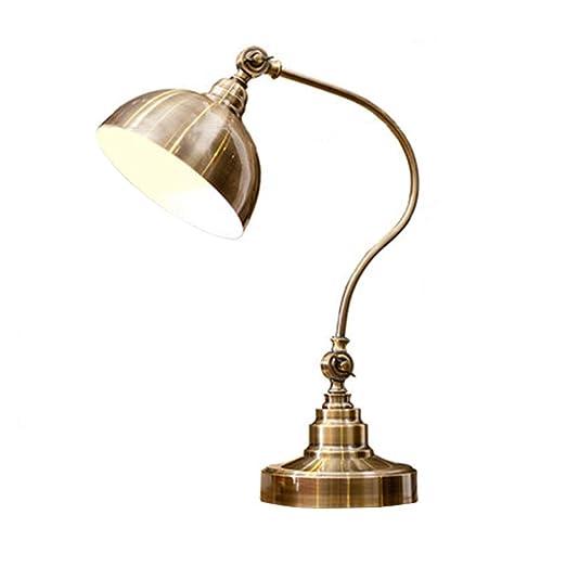 FHW Vintage lámpara de mesa dormitorio República de China lámpara ...