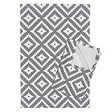 Roostery Aztec Grey Southwest Trendy Diamonds Monochrome Littlearrow Tea Towels Grey Aztec The Willow Woods by Littlearrowdesign Set of 2 Linen Cotton Tea Towels