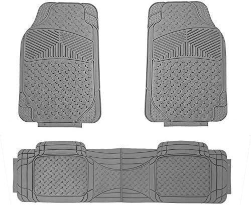FH Group F11307GRAY Gray All Season Floor Mat (Full Set Semi-Custom Premium),Gray-3 Piece
