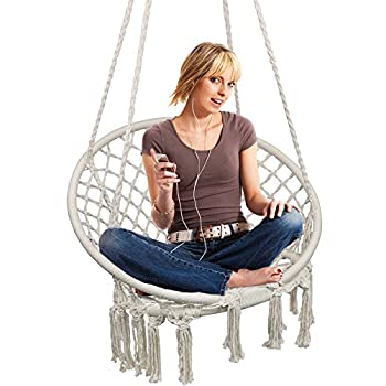 Hammock Chair Macrame Swing, Hanging Chair for 