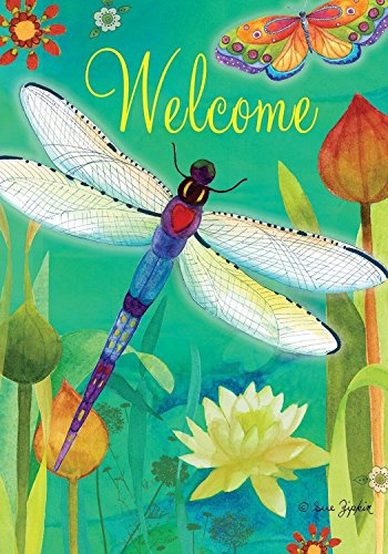 Briarwood Lane Dragonfly Dream Spring House Flag Welcome Butterflies Floral 28