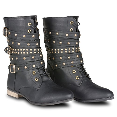 Twisted Women's Bree Lace-Up Military Boot - stylishcombatboots.com