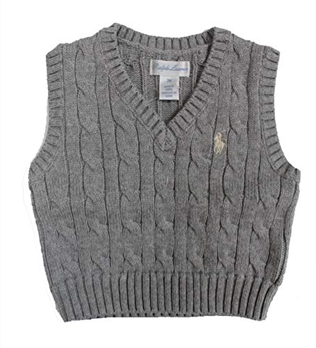RALPH LAUREN Baby Boy Cable-Knit Cotton Sweater Vest 3 Month Andover - Ralph Boys Sweater Vest Lauren
