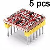 BAJIAN-LI 5PCS 2 Channel Logic Level Converter 3.3V to 5V TTL Bi-directional Module For Arduino