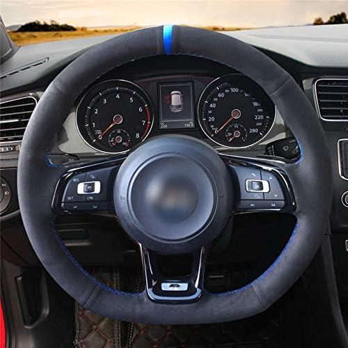 Hcdswsn Diy Hand Sewing Car Steering Wheel Cover Black For Vw Vw Golf 7 Gti Golf R Mk7 Vw Polo Gti Scirocco 2015 2016 Sport Freizeit