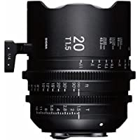 Sigma T1.5 Cine 20mm Ultra Full Frame High Speed Prime Lens with PL Mount, 11 Close Focus Distance