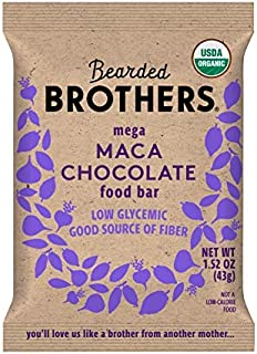 product image for Bearded Brothers Vegan Organic Energy Bar   Gluten Free, Paleo and Whole 30   Soy Free, Non GMO, Low Glycemic, Packed with Protein, Fiber + Whole Foods   Maca Chocolate   5 Pack