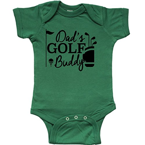 inktastic - Dad's Golf Buddy Infant Creeper Newborn Kelly Green 26877 ()