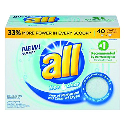 all Concentrated Powder Detergent Free & Clear Powder - 50 o