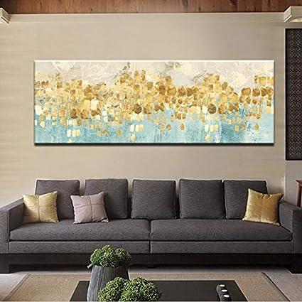 YCOLLC Lienzo de Pintura Moderno Pintura Abstracta Oro Dinero Ola del mar Pintura al /óleo en Cartel Pared Imagen de Arte para Livingom decoraci/ón para el hogar Sin Marco