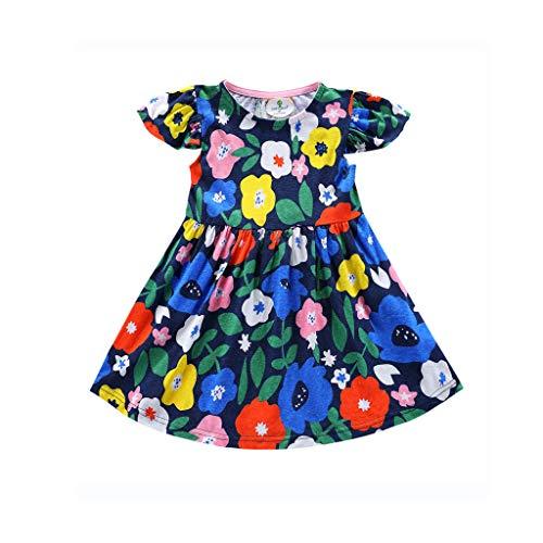Skirt Baby and Toddler Girls Dresses Child Kids Short Sleeve Cartoon Print Princess Clothes (18-24 Months, ()