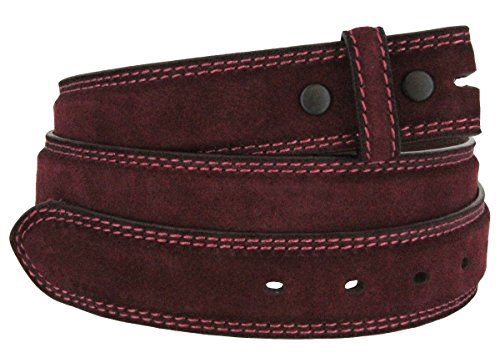 Suede Leather Belt Strap (Fullerton 351000 Genuine Full Grain Suede Leather Belt Straps 1-3/8