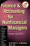 Finance and Accounting for Nonfinancial Managers, Steven A. Finkler, 0735202680