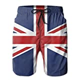 ZQ-SOUTH Men's Union Jack Flag Quick Dry Summer Beach Surfing Board Shorts Swim Trunks Cargo Shorts