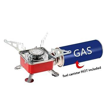 Al aire libre quemador Patio estufa portátil plegable al aire libre estufa de gas stove quemador: Amazon.es: Deportes y aire libre