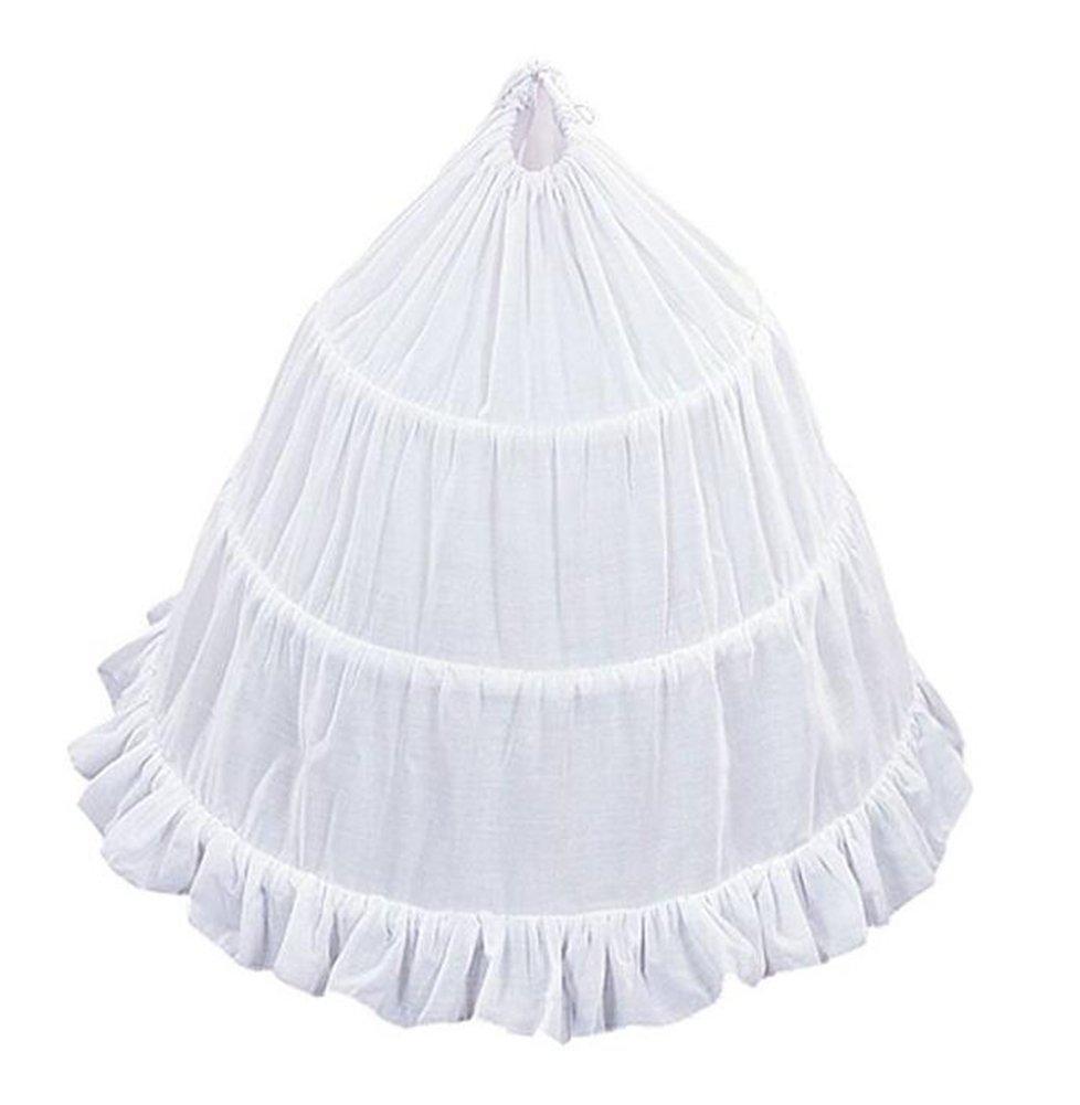 Dobelove Girls 3-Hoop Flower Girl Crinoline Petticoat Skirt