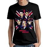 MJCoulombe Woman Duran Duran Particular Short Sleeve Top Shirt Young Cool Shirt Black Medium