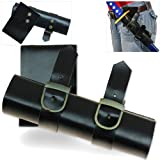 Renaissance Hip Carry Buckled Sword Frog Holster - Fits Medium & Large Scabbards Costume Prop Medieval LARP