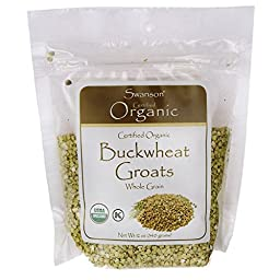 Swanson Certified Organic Buckwheat Groats 12 oz (340 grams) Pkg