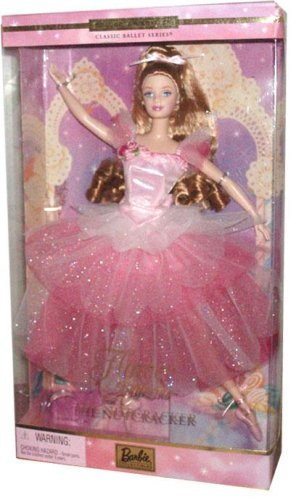 Barbie Year 2000 Collector Edition Classic Ballet Series 12 Inch Doll - Barbie as Flower Ballerina from The Nutcracker with Pink Ballet Costume, Ballet Slippers, Doll Stand and Certificate of Authenticity (Barbie Slippers Ballerina)