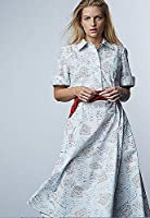 Jonathan Cohen Shirtdress, Godets in Love Note Print