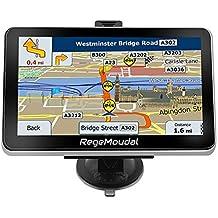 RegeMoudal Navegación GPS para coche, 7 pulgadas, sistema de navegación GPS para coche, sistema de memoria 8G, portátil, camión, navegador, pantalla táctil, multimedia, preinstalado