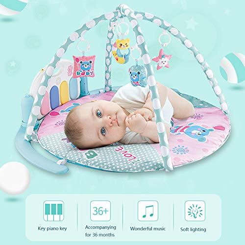 MCJL Remote Control Pedal Piano Early Childhood Education Rattle Music Carpet Fitness Rack Game Suitable for Newborns Born in Music and Lighting,Lion by MCJL (Image #6)