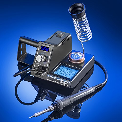 x-tronic-model-3020-xts-digital-display-soldering-iron-station-10-minute-sleep-function-auto-cool-down-cf-switch-ergonomic-soldering-iron-solder-holder-brass-tip-cleaner-with-cleaning-flux