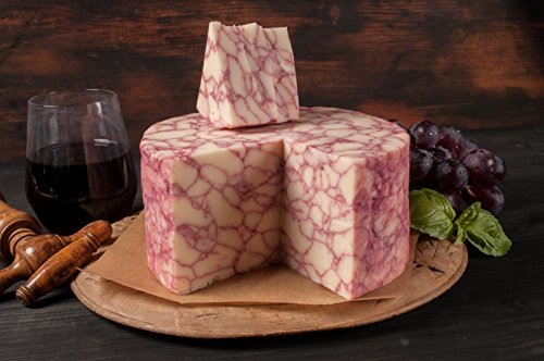 Merlot Infused White Cheddar Cheese- Golden Age Wisconsin Cheeses from Harmony Dairy Merlot cheese