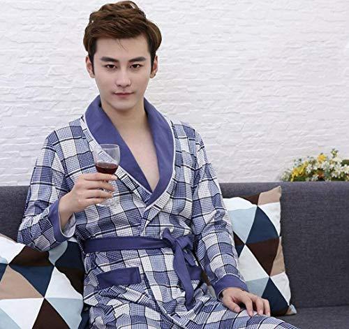 Comoda Da Accappatoio Blue2 Maniche In Per Cotone Notte Stile Camicia Rilassante A Lunghe Semplice E 7Und7Pqw