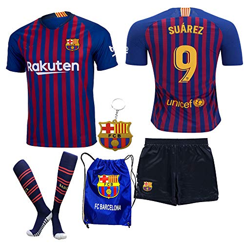 big sale 9a733 7110a inexpensive barcelona 9 luis suarez away youth kids child ...