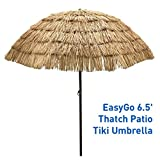 EasyGo – 6.5′ Thatch Patio Tiki Umbrella – Tropical Palapa Raffia Tiki Hut Hawaiian Hula Beach Umbrella Review