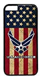 US Air Force USA Flag Army rubber Plastic Black Case Cover for iPhone 7 Plus 5.5' by Deal Market LLC (Tm)Ships from Florida and Guranteed delivery within 7 Plus Business days