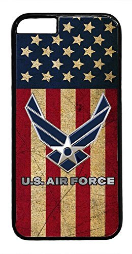 US Air Force USA Flag Army rubber Plastic Black Case Cover for iPhone 7 Plus 5.5
