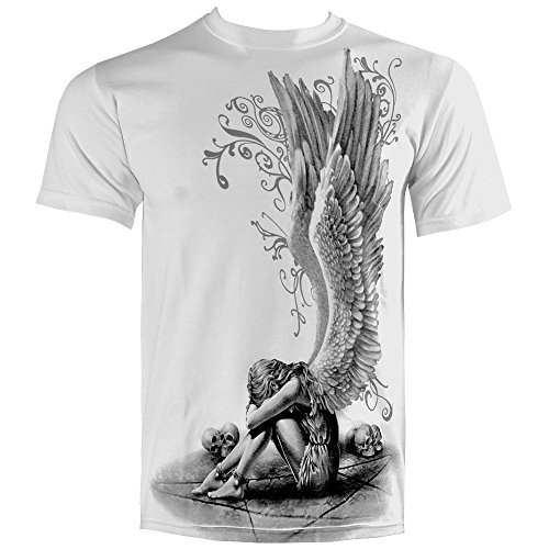 Spiral Herren T-Shirt - Enslaved Angel Weiss beidseitig bedruckt