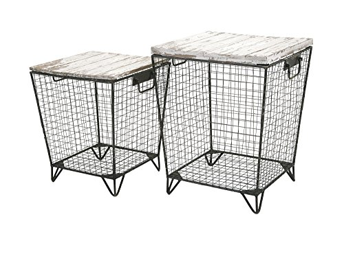Cage End (Imax 88646-2 Ava Cage Tables (Set of 2))