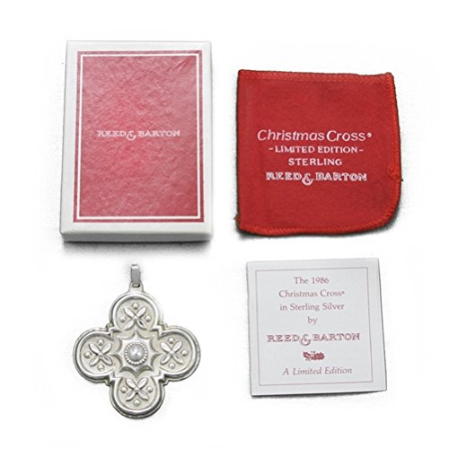 1986 Christmas Cross Sterling Ornament by Reed & Barton Reed & Barton Christmas Cross