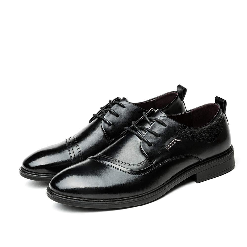 Dundun-Zapatos Oxford Hombre 2018, Zapatos Oxford de de de Negocios para Hombres, Zapatos Formales de Cuero cómodos británicos clásicos Ocasionales (Color : Negro, tamaño : 44 EU) 711ec6