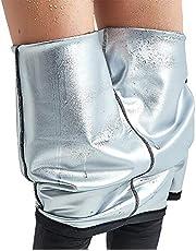 Dam bastu viktminskning slimming, bastu dräkt träning, neopren byxor sidoficka het termo svett leggings