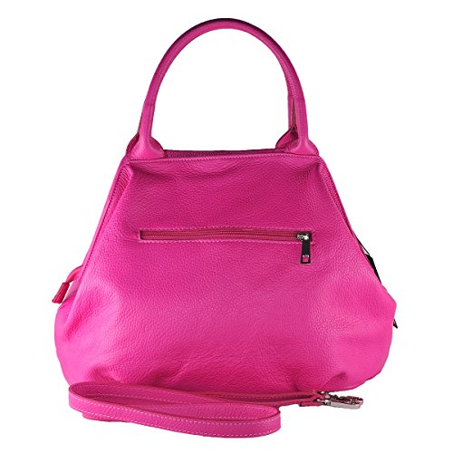 100 Made Genuine Italy GIADA BORDERLINE Handbag Fuchsia in Leather Woman'S 5dxqIP