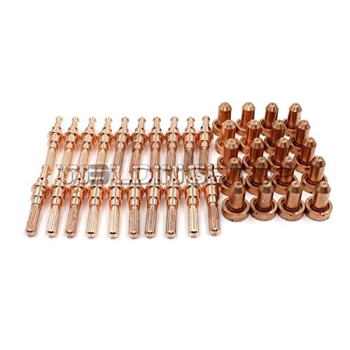 Plasma Cutting Torch Electrode 9-8215 & 9-8211 Nozzle 80A Tip for Thermal Dynamics SL60 SL100 Torch 40pcs