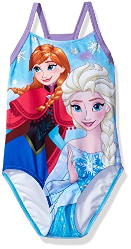 Disney Frozen Girls Swimwear Swimsuit (Baby/Toddler/Little Kid/Big Kid)