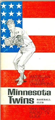 1966 Minnesota Twins press media guide - Twins 1966 Minnesota