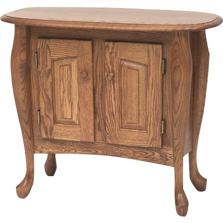 Queen Anne Solid Oak Sofa Hall Table – 31″ (Chestnut) Queen Anne Hall Table